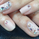 130x130 sq 1490043011468 manicure with silver rhinestones nails