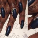 130x130 sq 1490043020879 matte black acrylic nails rhinestone manicure
