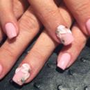130x130 sq 1490043040153 pink acrylics flower rhinestone manicure