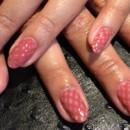130x130 sq 1490043049228 pink fish net painted nail art manicure