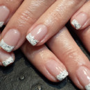 130x130 sq 1490043066034 silver glitter french tip manicure