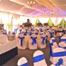 130x130 sq 1375910832930 mountain view pavilion wedding buffet with blue sashes