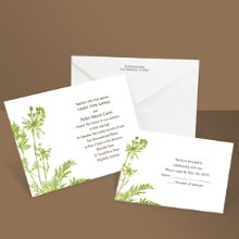 Growing Love Grass Wedding Invitation An invitation as naturally beautiful as your growing love for each other, this green wildflowers wedding invitation will reflect your love for all things natural. Matching respond postcards are available with this invitation as well as matching reception cards and regular respond cards. Enclosures are printed on non-folding cards.