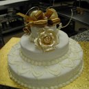 130x130 sq 1181585767075 weddingcakewhite3