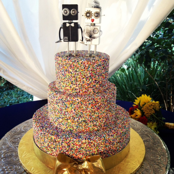 Average Cost Of Wedding Cake San Diego Bright florals in this