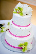 220x220 1387311012215 pink and white wedding cak