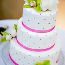 220x220 sq 1387311012215 pink and white wedding cak