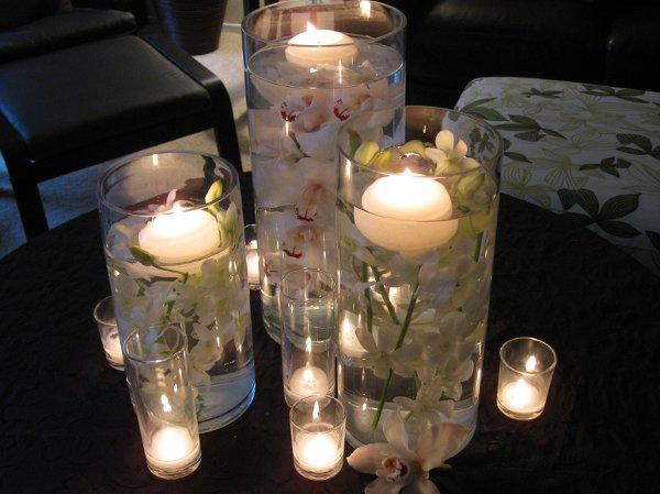 White centerpieces fall spring summer winter wedding