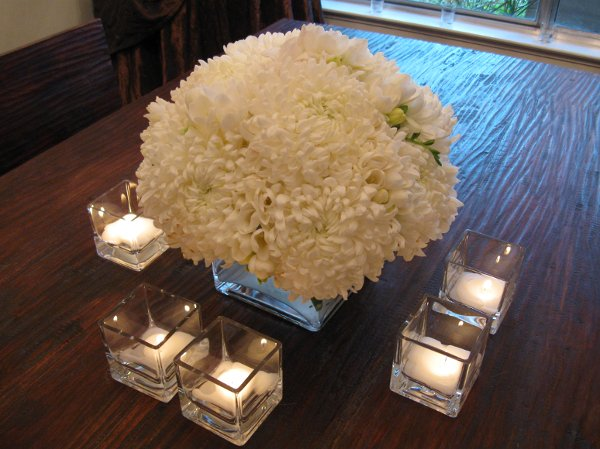 White centerpieces fall spring summer winter wedding