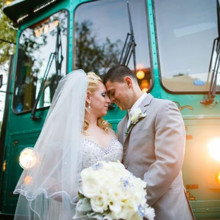 220x220 sq 1454359354902 trolley bride