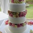 130x130 sq 1224554116397 rose gardens wedding cake 1  150x207