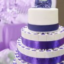 130x130 sq 1258048126521 purplefavorcakewithrealcaketopper