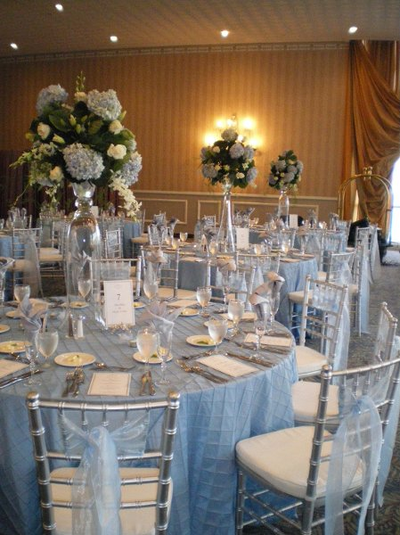 Blue White And Gold Wedding Decor : Gallery for gt blue and silver wedding centerpieces
