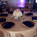130x130 sq 1483397566165 crushed taffeta champagne with navy napkin and gol