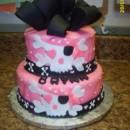 130x130 sq 1370184081315 pink skull girl cake