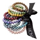 Stretch Honora pearl bracelets in variety of colors.