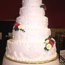 220x220 sq 1354296247699 5tierroundwhiteweddingcakeedited
