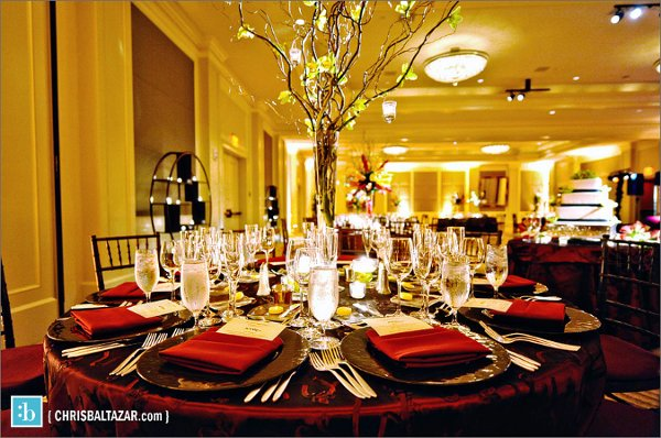 Burgundy gold green candles centerpiece centerpieces