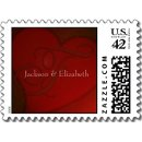 130x130 sq 1226985273579 deep red heart monogram f custom small postage p172367070040426034vldr 325