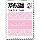 130x130 sq 1226985316360 pretty pink damask bridal shower small postage p172310831753161655vldr 325