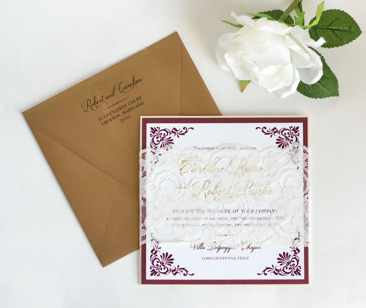 Pink Orchid Invitations - Invitations - Germantown, MD - WeddingWire