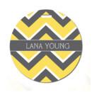 130x130 sq 1393272578421 round tag   gray lemon chevro