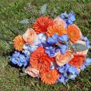 130x130 sq 1291048279380 philadelphia.wedding.florist.orange.blue.bouquet.flowers