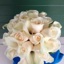 130x130 sq 1403621751197 white rose and cala bouquet