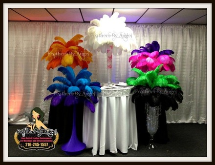 Feathers By Angel-Rent Ostrich Feather Centerpieces