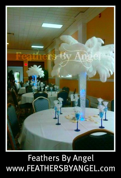 Feathers By Angel Rent Ostrich Feather Centerpieces