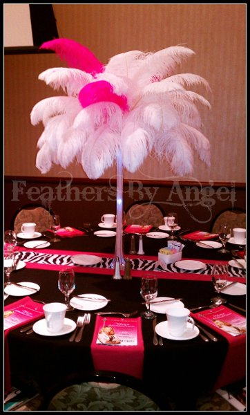 Feathers by angel rent ostrich feather centerpieces photos