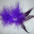 130x130 sq 1273789436699 purpleblackfascinator4152010118