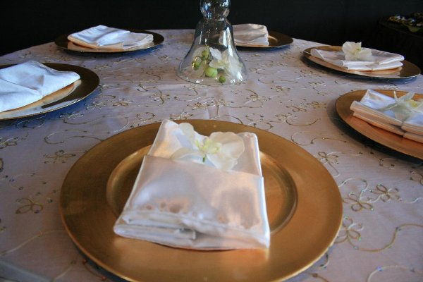 photo 4 of Bella - Wedding chair covers, linens  & $1.00 Charger Plate Rental