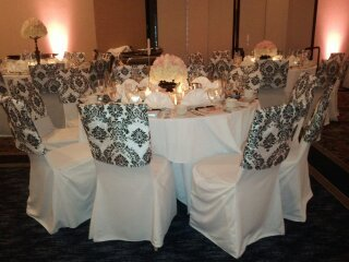 photo 9 of Bella - Wedding chair covers, linens  & $1.00 Charger Plate Rental