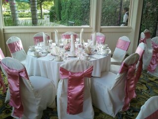 photo 10 of Bella - Wedding chair covers, linens  & $1.00 Charger Plate Rental
