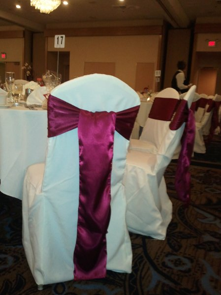 photo 11 of Bella - Wedding chair covers, linens  & $1.00 Charger Plate Rental