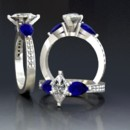130x130 sq 1390595844679 marquis diamond with pear shaped sapphire