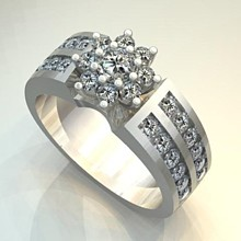 220x220 sq 1240431656843 diamondflowerclusterring