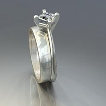 220x220 sq 1240431681000 solitaireengagementringwithcontouringband