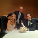 130x130 sq 1425868087014 wp 19 a beautiful bride and groom with rabbi david