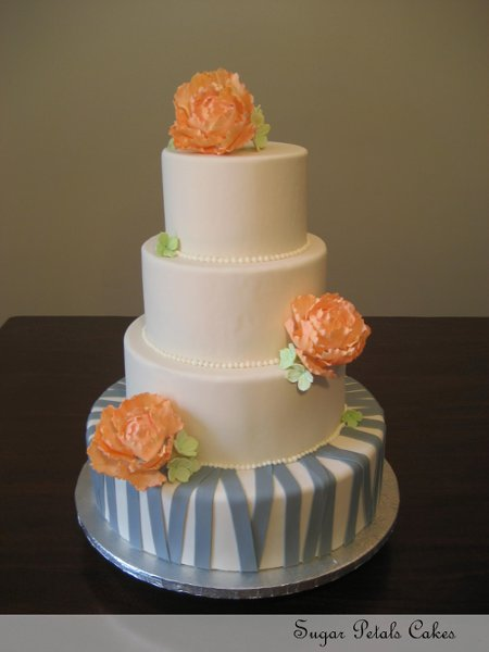 sugar petals cakes lancaster pa wedding cake