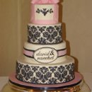 130x130 sq 1240467111859 blackdamaskweddingcake