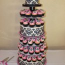 130x130 sq 1240467111921 blackdamaskcupcaketower