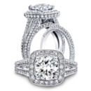 <b>Carmella collection 6933TC-R &amp; 6933-B</b>  <br /> <br /> Handcrafted engagement ring from the Carmella collection crafted with 1.63 carats of diamonds (center stone not included). Shown with matching wedding band crafted with 0.54 carats of diamonds.