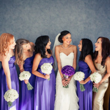 220x220 sq 1418150379293 bride and bridesmaids holding bouquets