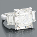 130x130 sq 1384541464204 emerald cut engagement rings 3 stone diamond ring