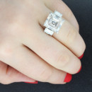 130x130 sq 1384541466022 emerald cut engagement rings 3 stone diamond ring