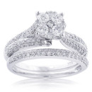 130x130_sq_1384545649537-cluster-diamond-engagement-ring-set-143ct-14k-gold