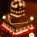 130x130 sq 1229239146939 chocolateganachecoveredcake