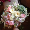 130x130 sq 1404241086331 soft pinks and creams bridal bouquet